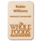 engraved wood name badges